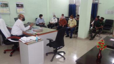 Photo of महेश्वर दिनांक 26.06.21 को आयोजित होने वाले रक्तदान शिविर हेतु समीक्षा बैठक आयोजित की गई